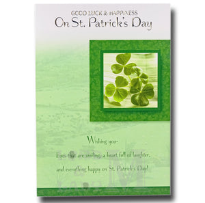 20cm - Good Luck & Happiness On St. Patrick's - E