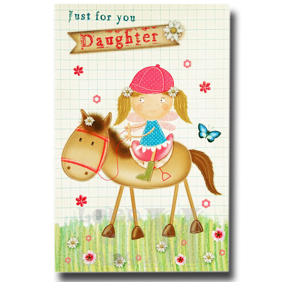 23cm - Just For You Daughter - Horse Girl - E