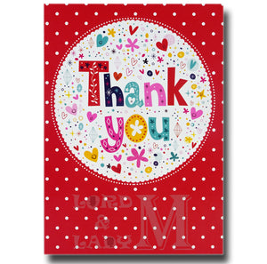 20cm - Thank You - Red Spotty - RV