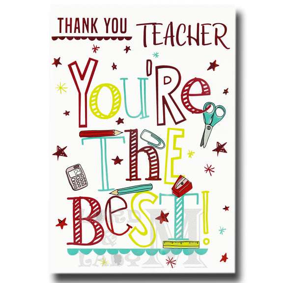 19cm - Thank You Teacher You're The Best - BGC