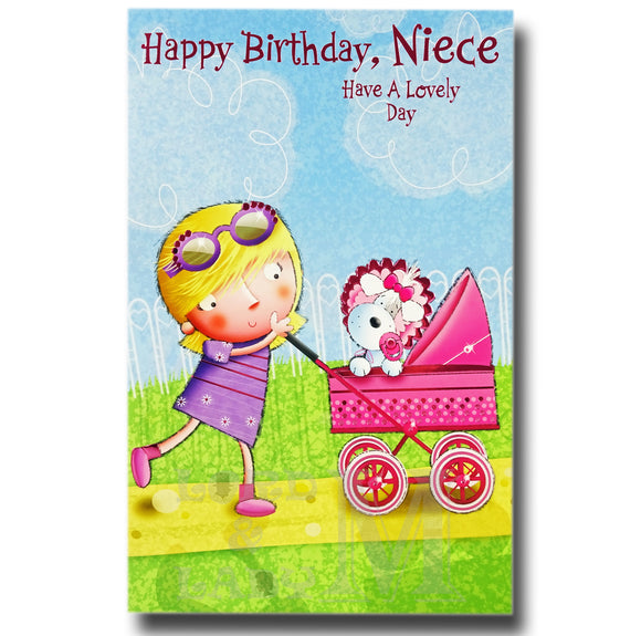 27cm - Happy Birthday, Niece Have A - Lge Let - E