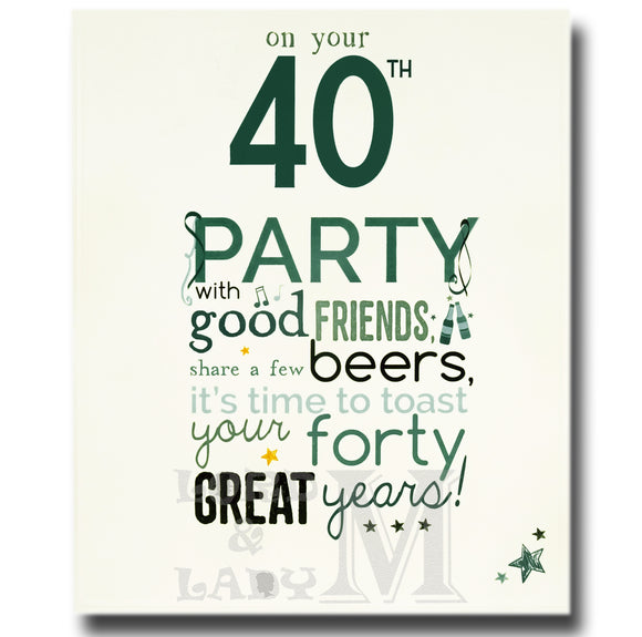18cm - On Your 40th Party With Good Friends - ASD