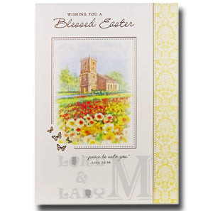 19cm - Wishing You A Blessed Easter - Church - E
