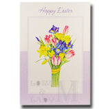 15cm - Happy Easter - Bunch Of Flowers - E