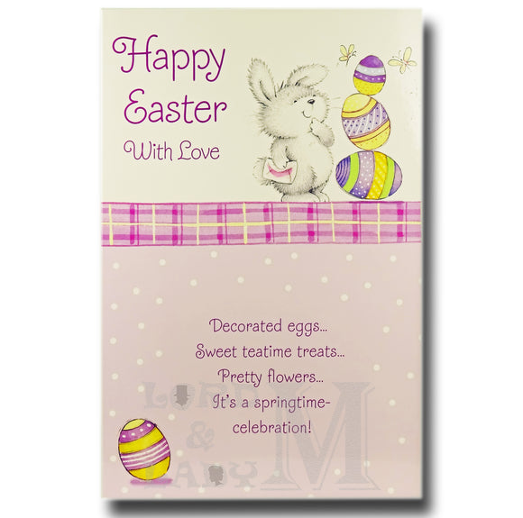 Happy Easter With Love - Bunny 3 Eggs - E