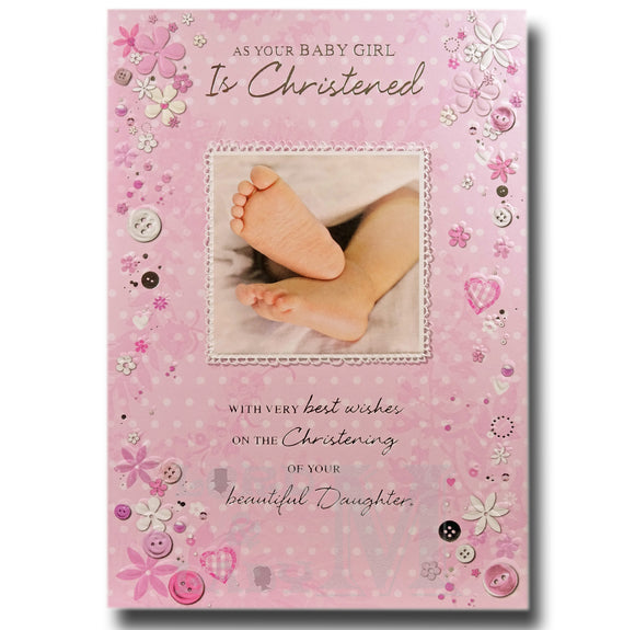 20cm - As Your Baby Girl Is Christened - CWH