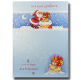 19cm - To A Dear Godson - Santa Chimney - DGC