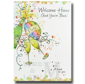 19cm - Welcome Home Glad You're Back A Toast - DGC