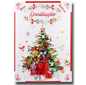 19cm - Merry Christmas Granddaughter - Tree - DGC