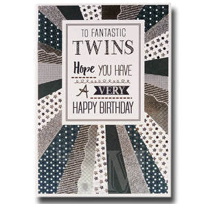 19cm - To Fantastic Twins Hope You Have A .. - BGC