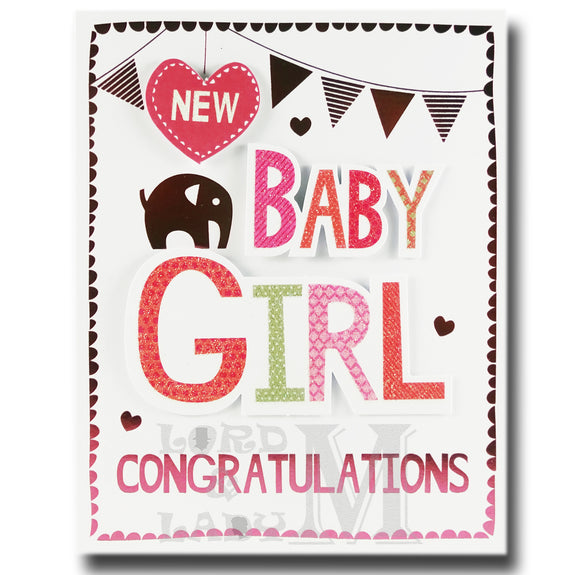 17cm - New Baby Girl Congratulations - CWH