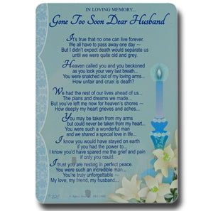 15cm - Gone Too Soon Dear Husband - DGC
