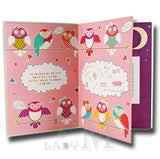 24cm - To A Lovely Sister - Owls - Lge Let - E