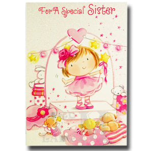 19cm - For A Special Sister - Girl On Stage - E