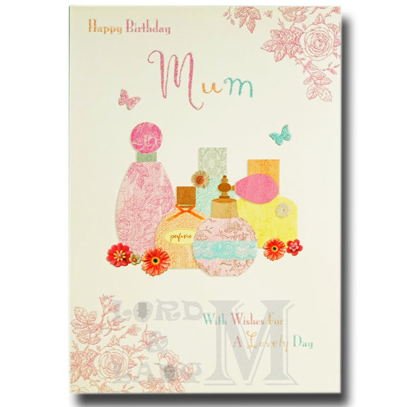 24cm - Happy Birthday Mum - Perfumes - Lge Let - E