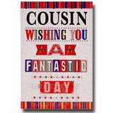 20cm - Cousin Wishing You A Fantastic .. - Red - E