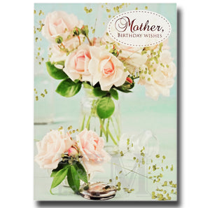 17cm - Mother Birthday Wishes - Roses - OH