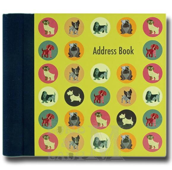 Dot The Dog Hardback Address Book - Various Dog Breeds - Perfect Gift Idea
