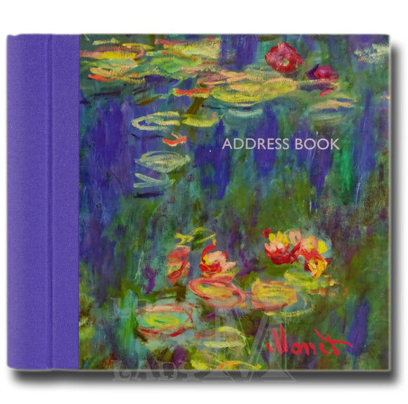 Monet Hardback Address Book - Water Lilies - Perfect Gift Idea