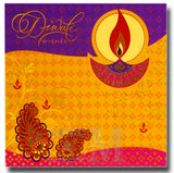 15cm - Diwali Wishes - Purple Gold Pink - DV