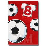 20cm - 8 Today! - Football Red Glitter - E