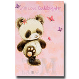 23cm - With Love, Goddaughter - Panda - E