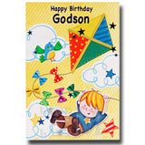 19cm - Happy Birthday Godson - Kite Bird - E