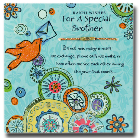 15cm - Rakhi Wishes For A Special Brother .. - DV