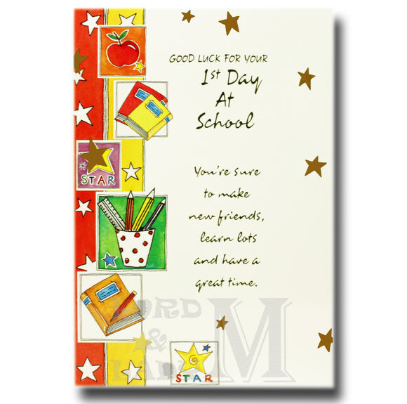 19cm - Good Luck For Your 1st Day At School - DGC
