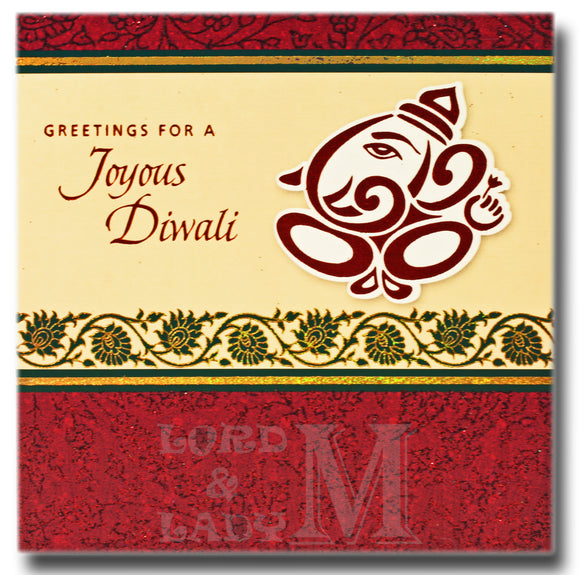 15cm - Greetings For A Joyous Diwali - DV