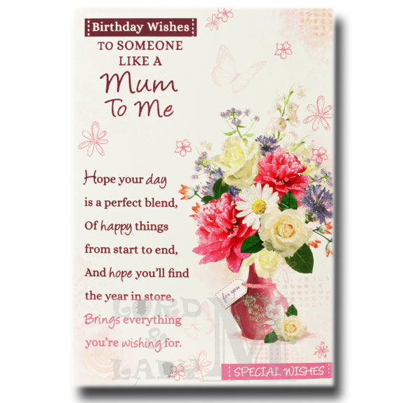 19cm - Birthday Wishes To Someone Like A Mum - BCG