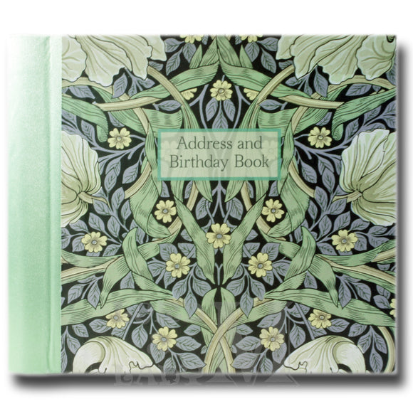 William Morris Hardback Address And Birthday Book - Pimpernel - Perfect Gift Idea