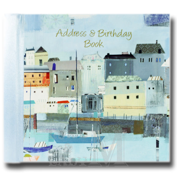 By The Sea Hardback Address And Birthday Book - Boats Houses Harbour