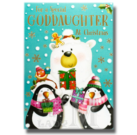 19cm - For A Special Goddaughter At Christmas - GH