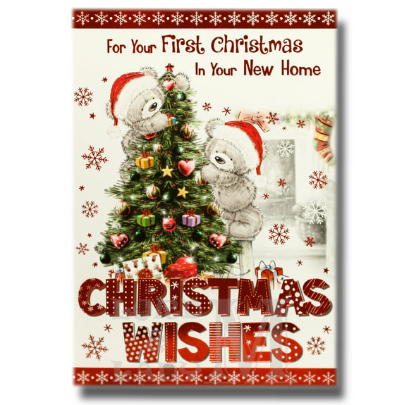 19cm - .. In Your New Home Christmas Wishes - BGC