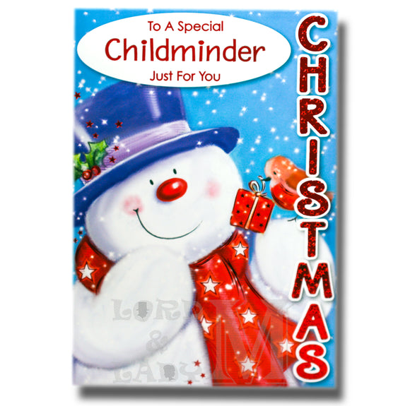 19cm - To A Special Childminder Just For You - BG