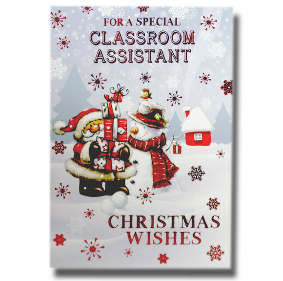 19cm - .. Classroom Assistant Christmas Wishes -BG
