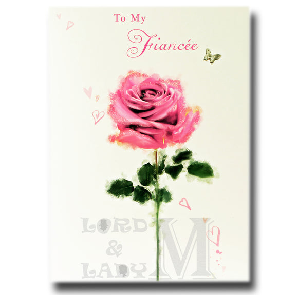 17cm - To My Fiancee - Single Rose - OH