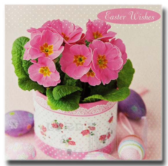 13cm - Easter Wishes - Pink Flowers