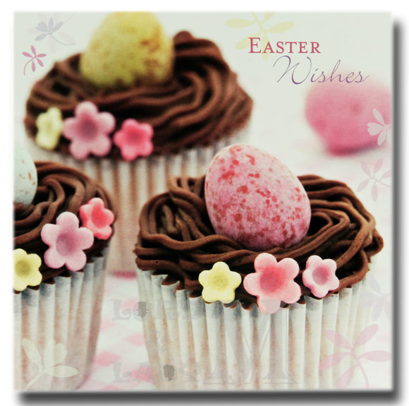 13cm - Easter Wishes - Chocolate Cupcakes Eggs