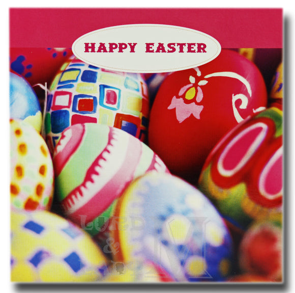 13cm - Happy Easter - Bright Easter Eggs