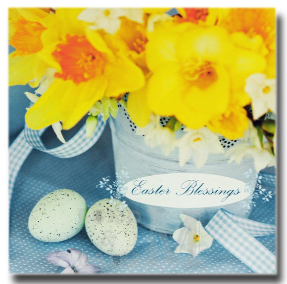 13cm - Easter Blessings - Daffodils Eggs