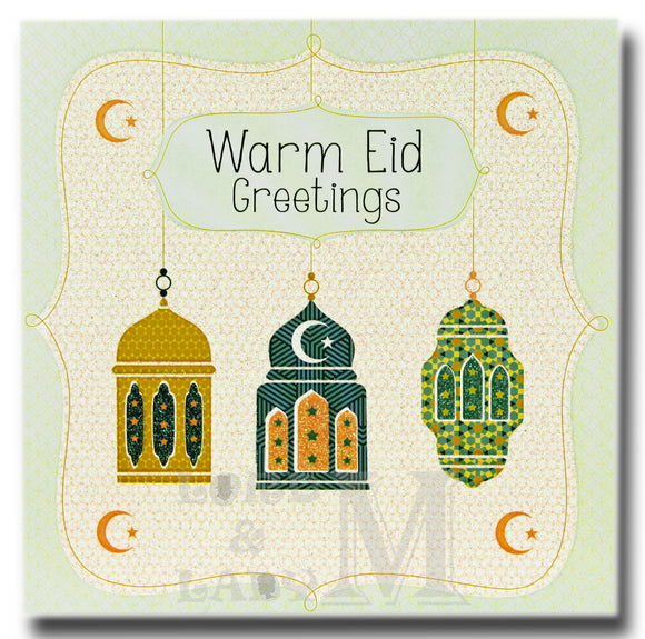 15cm - Warm Eid Greetings - DV
