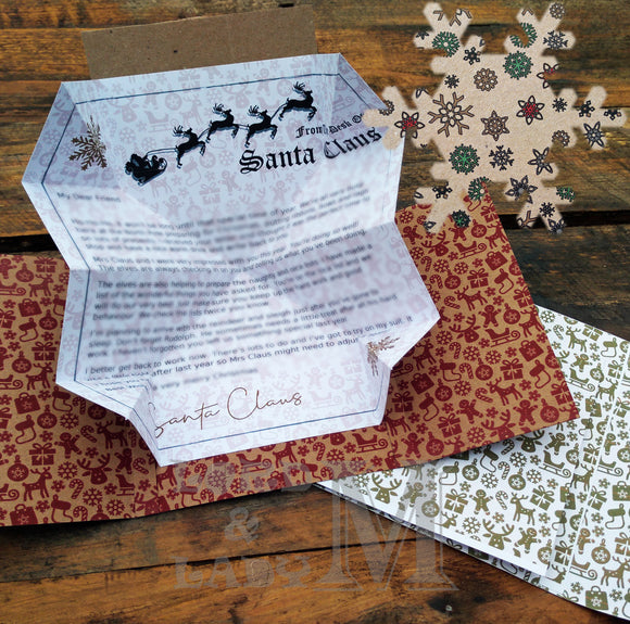 13cm - Personalised Letter From Santa - Kraft Snowflakes