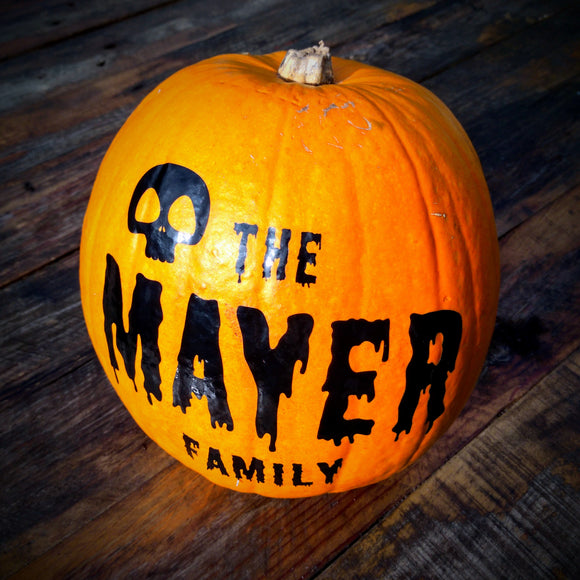 Personalised Family Name Halloween Decal