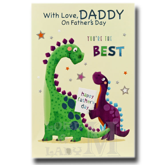 20cm - With Love, Daddy - Dinosaurs - JK
