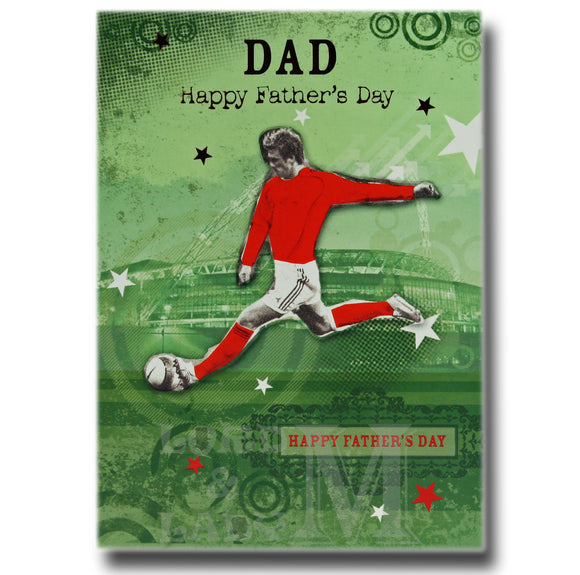 17cm - Dad Happy Father's Day - Football - OH