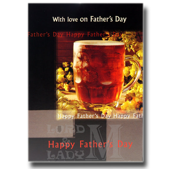 17cm - With Love On Father's Day - Pint Beer - OH