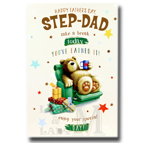 19cm - Happy Father's Day Step-Dad Take A .. - GH