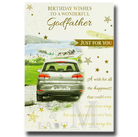 19cm - Birthday Wishes To A Wonderful Godfather - BGC